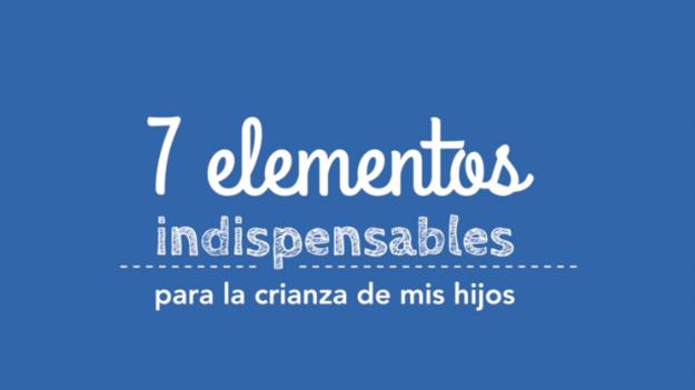 Miniatura de la serie 7 elementos indispensables para la crianza de mis hijos , logotipo con diferentes tipografias en el logo