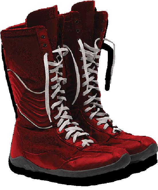 Botas de boxeo altas rojas